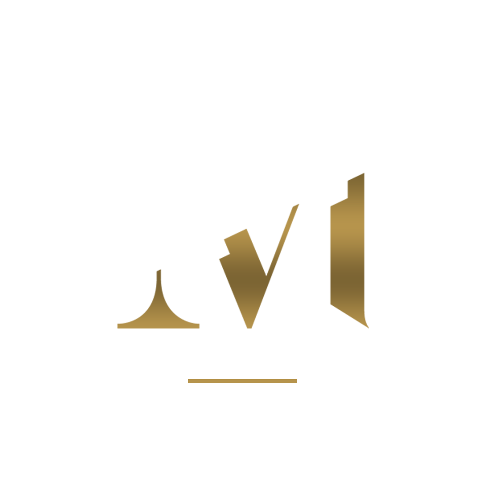 MDE Logo (white and gold)